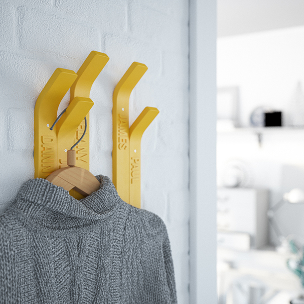 TIP - 3D Printed Personalized Hangers by Ivan Zhurba