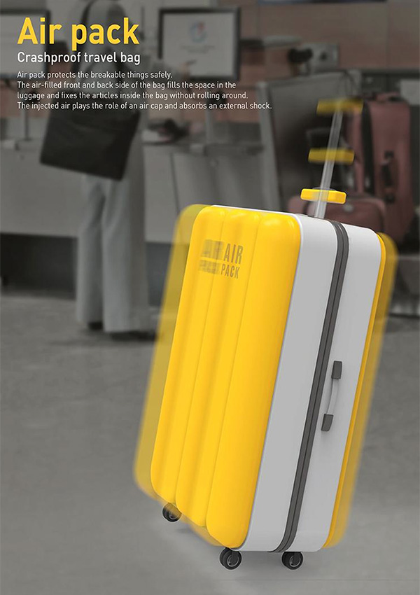 Air Pack – Travel Luggage Design by Eun-ji Jeong, You-jeong Lee & Jun-sick Kim