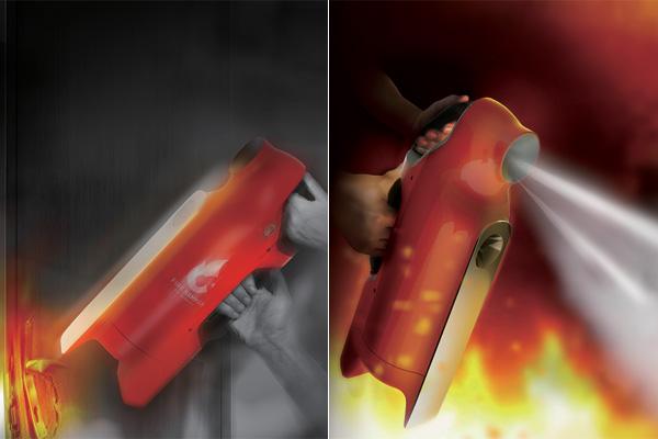 Fire Hammer – Fire Extinguisher With A Hammer Design by Jiang Jiongfan, Lin Shuang, Xue Rui & Zha Lianghao