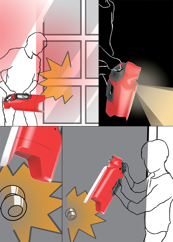 In Case Of Fire Just Use The Hammer Yanko Design