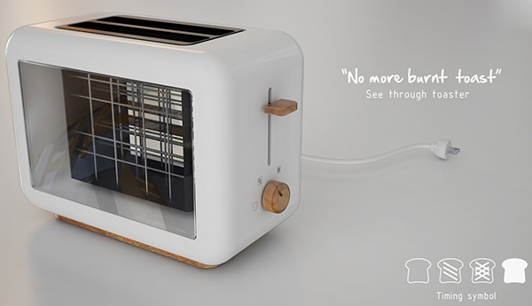 See Through Toaster by Chaya Harntaweewongsa, PLERN Studio