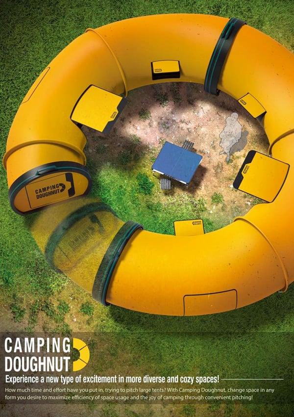Camping Doughnut – Camp Tent Design by Sungha Lim, Hyunmook Lim & Han Kim