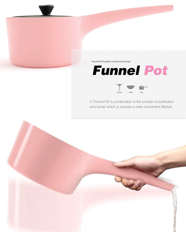 Funnel Pot – Kitchen Pot Design by Bosoon Kang