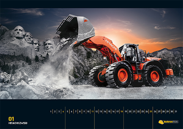 Heavy Equipment Calendar 2015 by Bauforum24