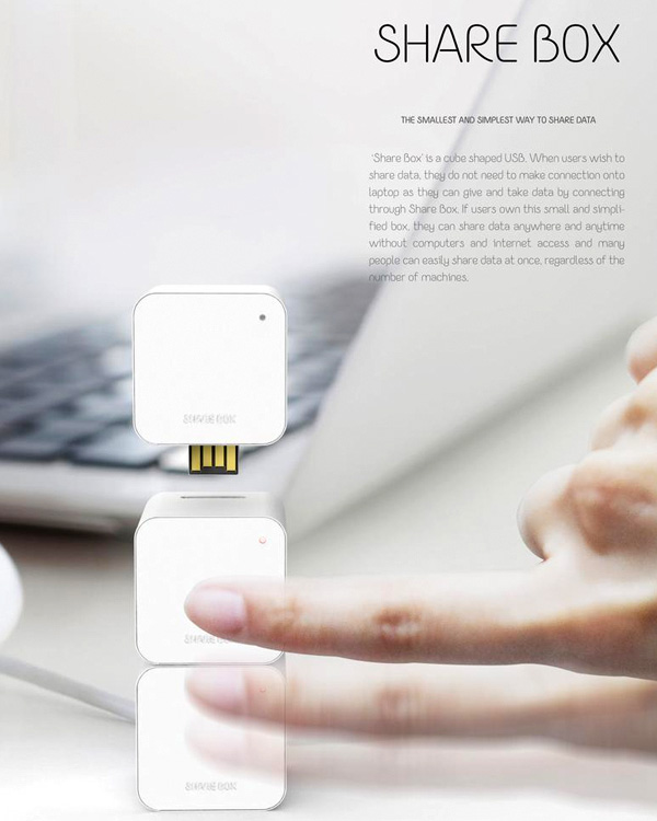 Share Box – Cube Shaped USB by Eunsoo Kim & Yulim Choi