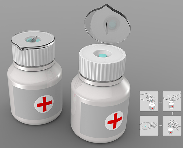 The Built-in Pill Cutter