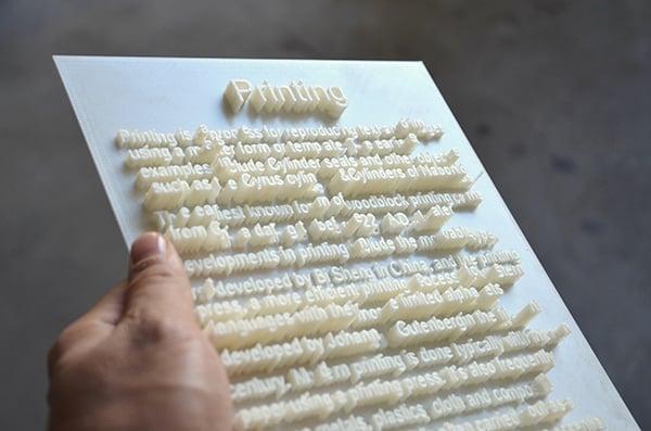printing text