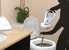 The No-Brainer Toilet Drainer