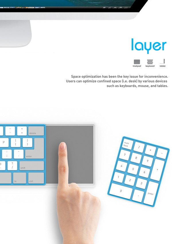 Layer Keyboard – Modular Keyboard by Kim Edo