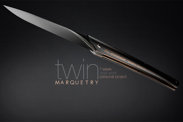 TWIN Marquetry Knife by Quentin Salliot