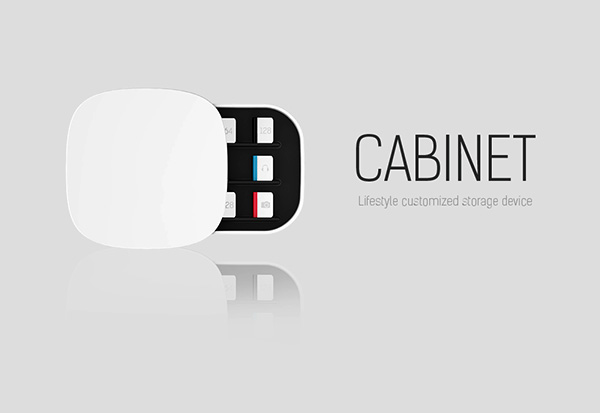Cabinet – Modular HDD, USB, and SD CARD Storage Device by Joongu Kim