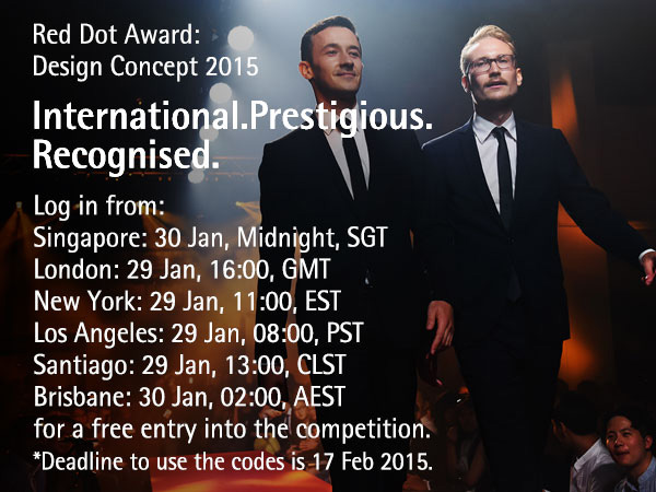 YD & Red Dot Award: Design Concept Present the One-Hour Free Registration Window, 2015