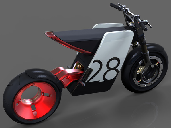 Electric Supermoto Concept Motorbike by Eyal Melnick