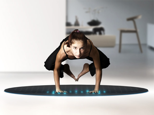 Tera Fitness Mat by Roman Gebhard, Matthis Hamann, Christian Moser, Claudia Weedermann, Florian Wuebert and Yoo Haneul for Lunar Europe