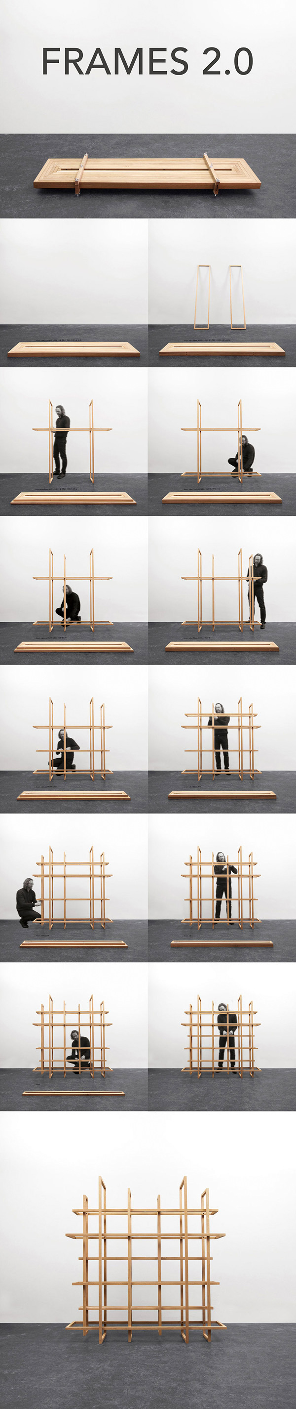 Frames 2.0 Wooden Shelf by Gerard de Hoop