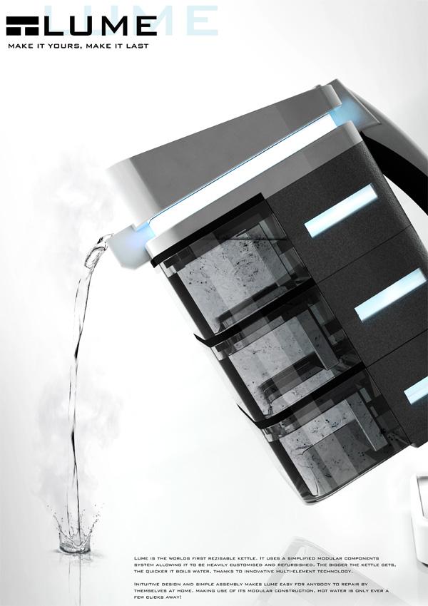 LUME – Modular Resizable Kettle by Daniel Allcock