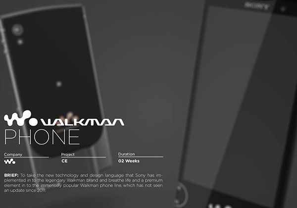 Walkman Phone Concept by David Bull