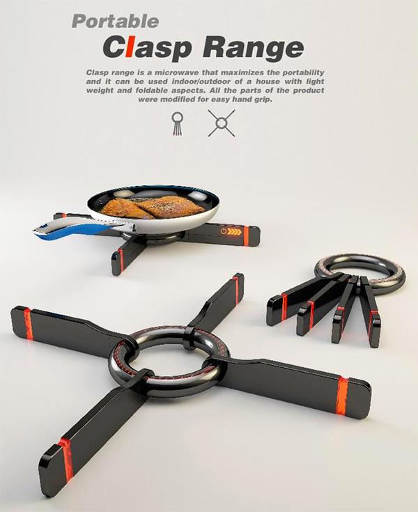 Clasp Range – Portable Stove by Kinam Hwang, Mina Kim, Jisoo Koh & Suim Choi