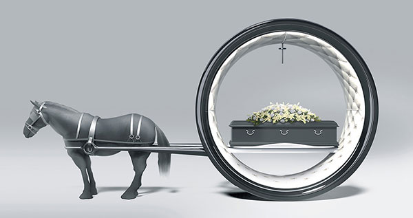 The Last Ride - Funeral Carriage by Hamid Bekradi