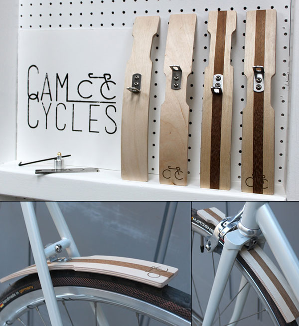 Handcrafted Wooden Bicycle Mudguards by Cam Cycles