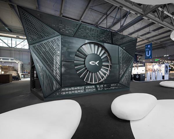 BLACKFIN stand – Black Shard by Arch. Nicola De Pellegrini - anidride\design
