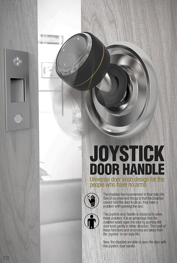 Joystick Door Handle by Hye-ji Yoo
