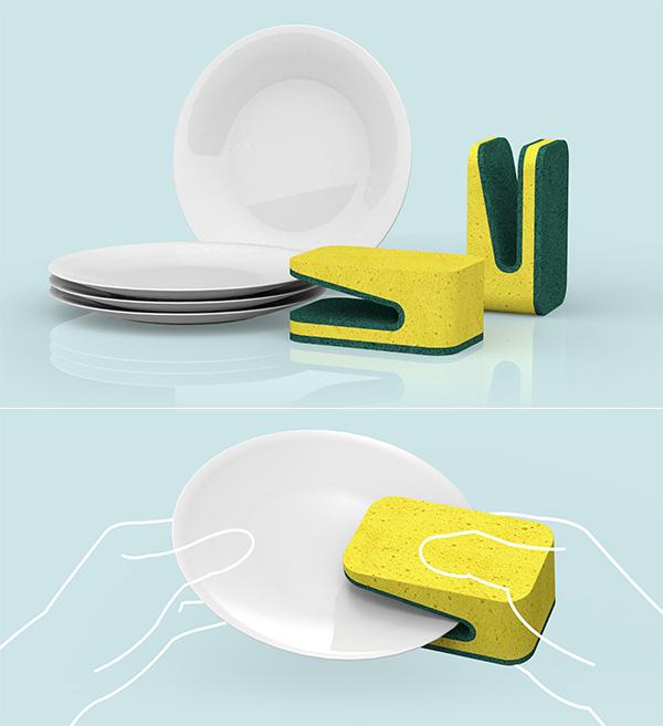 Folded Dish Sponge by Yoon Naera