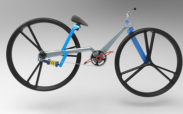 Folding Bicycle Concept by Chacko T Kalacehrry