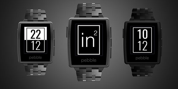 inSquare - Pebble Watchface by Theo Browne