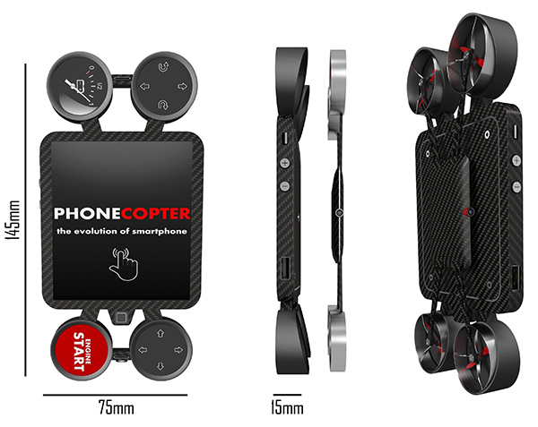 The Drone Phone - image phonecopter_04 on http://bestdesignews.com