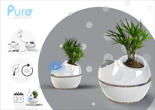 Puro Planter by Mariel Andrea Volpe