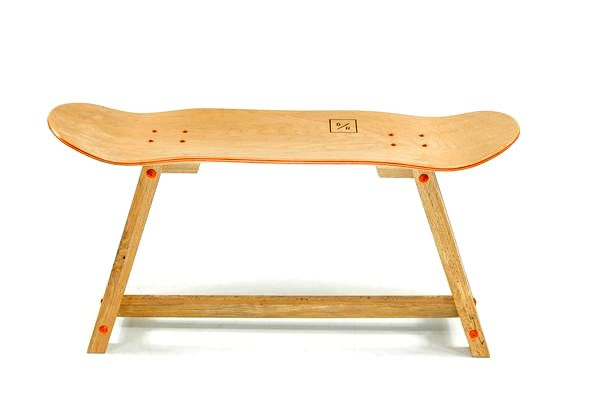 Handmade Skateboard Table by BakedRoast