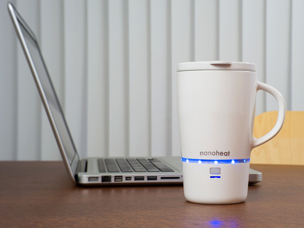 Wireless Heated Mug – Nano Heated Mug by Design HMI and Green Lama
