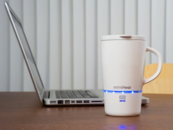 Wireless Heated Mug – Nano Heated Mug by Design HMI and Green Lama