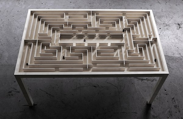Labyrinth Table by Benjamin Nordsmark