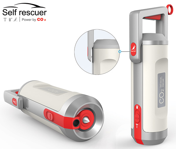 Self Rescuer – Car Emergency Rescue Tool by Cheng Peng Cai, Tiandong Ding Lu & Liu Linqing for Shenzhen UP industrial design Co.,Ltd & Hypersynes