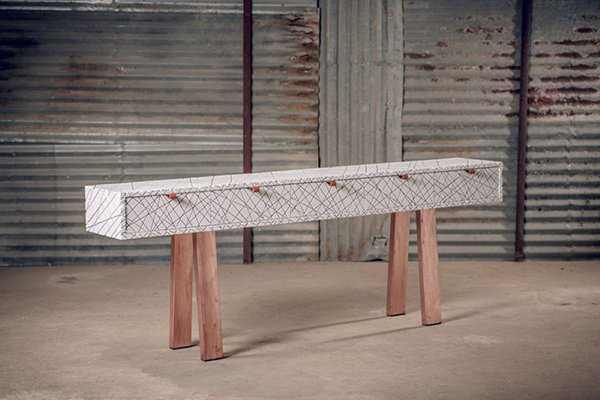 White Scars Console Table by Alon Dodo