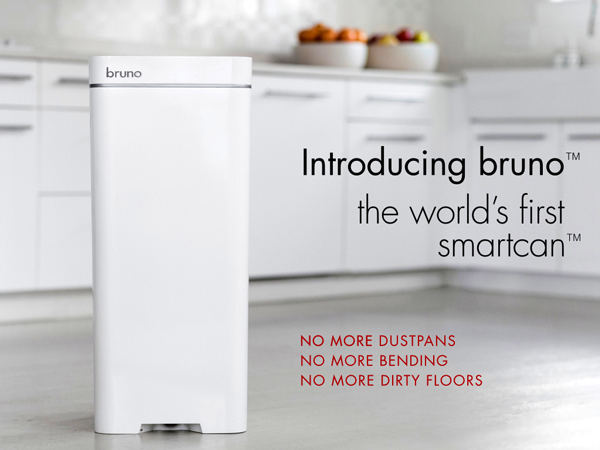 Bruno Vacuum Trash Can by Poubelle LLC