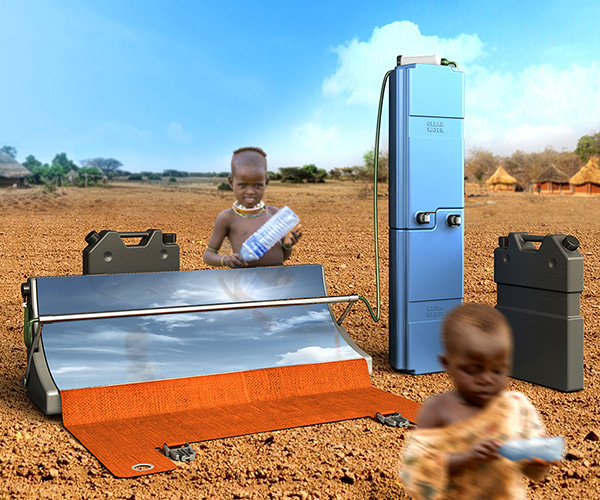 Parabosol Portable Solar Powered Water Treatment System by Hakan Gürsu of Designnobis Studio