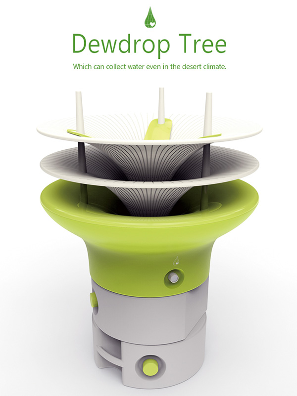 Dewdrop Tree – Water Collection Unit by Taesik Yoon