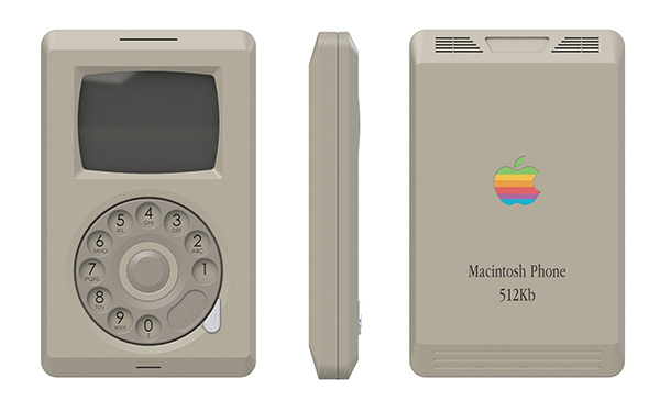 Macintosh Phone Concept by Pierre Cerveau
