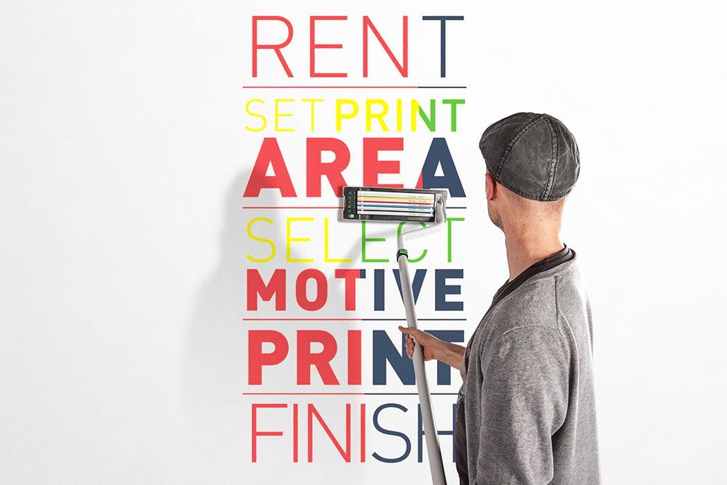 Printtex Mobile Wall Printer by Benjamin Loinger