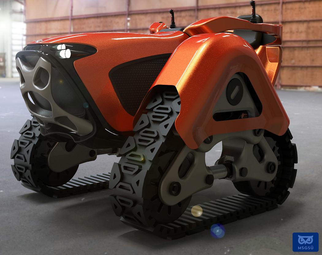 Tractor Wheels Concept : Little tractor for big jobs yanko design