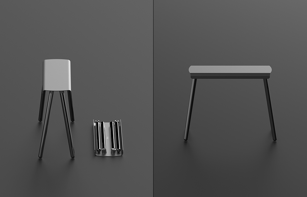 Stow-able Stool Stripped to Simplistic Perfection