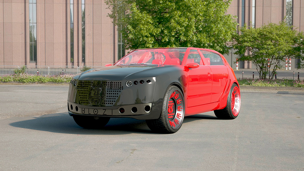 The Greenest Lux Vehicle Ever… in Cherry Red