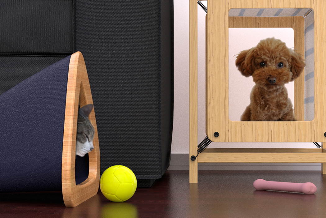 Pets need personal space too yanko design - Pets for small spaces style ...