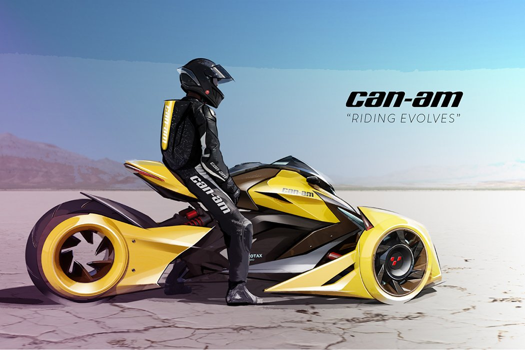 what a can am spyder shoulda been yanko design. Black Bedroom Furniture Sets. Home Design Ideas