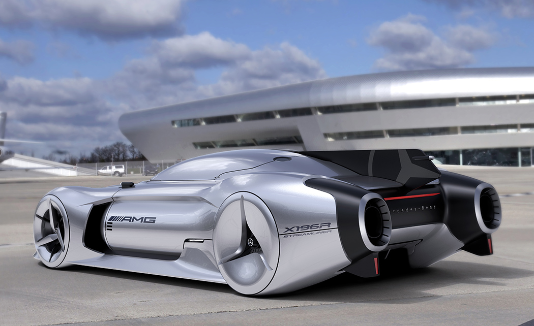 Jet Powered Benz Of The Future Yanko Design