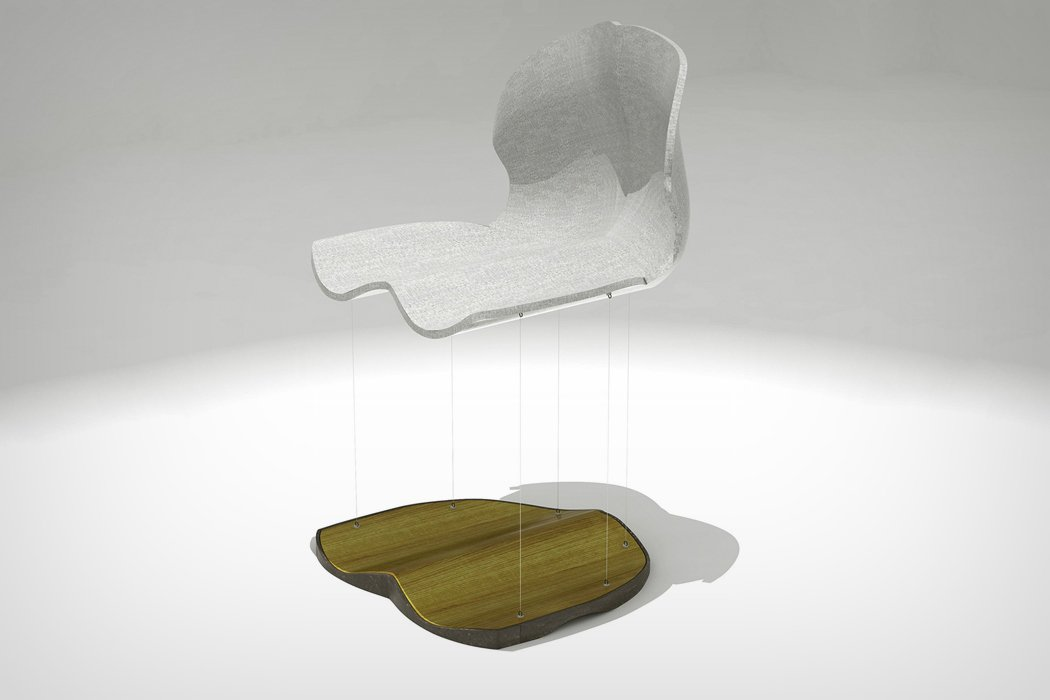 Floating ferromagnetic furniture yanko design for Magnetic floating couch