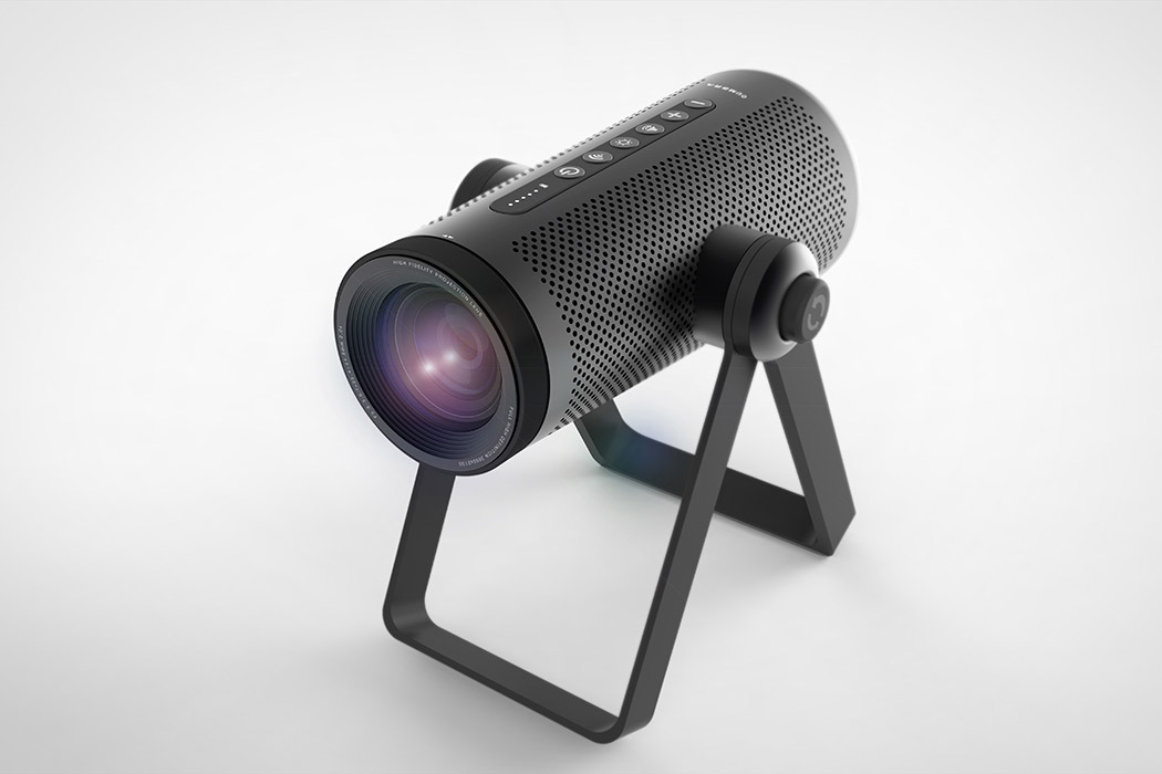 the perfect outdoor projector yanko design